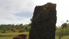 Ancient Rai Stone Monoliths in Historic National Park - PALAU Stock Footage