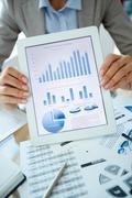 Presentation of market analysis - stock photo