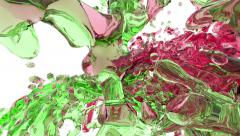 Stock Video Footage of Liquid streams collide. Paint Splashes Collide. Liquid collide. Fluid collide