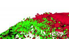 Liquid streams collide. Paint Splashes Collide. Liquid collide. Fluid collide Stock Footage