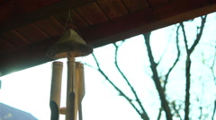 Bamboo Wind Chime - stock footage