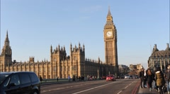 Houses of Parliament, London UK timelapse Stock Footage