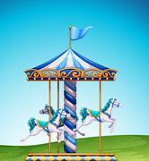 Carousel - stock illustration