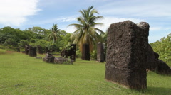 Black Stones in the Ground in PALAU Stock Footage