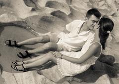 Stock Photo of honeymoon couple at Turkey