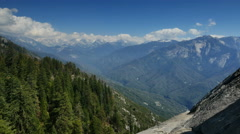 Stock Video Footage of 4K Sequoia View from Moro Rock Timelapse 01 SIerra Nevada Mts Cloudscape
