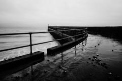 Shoreham pier in winter - stock photo