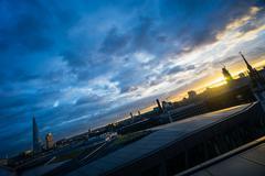 Sloping London horizon Kuvituskuvat