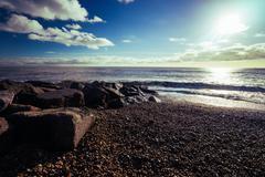 Winter beach - stock photo