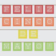 Stock Illustration of Mexican 'papel picado' (Paper flag decoration) card in vector format.