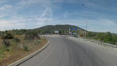 Algarve - A22 Acess Bus Travel POV RoundAbout Stock Footage