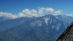 Stock Video Footage of 4K Sequoia View from Moro Rock Timelapse 03 SIerra Nevada Mts Cloudscape