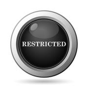 Stock Illustration of Restricted icon. Internet button on white background..