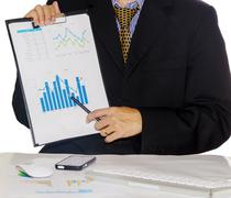 business man graph - stock photo