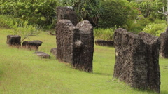 Rai Stones which are ancient monuments in PALAU Stock Footage