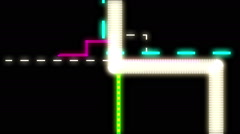 Digital Routes. Lines forming digital circuits. - stock footage