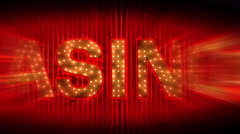 Transformation From The Word SIN to CASINO - stock footage