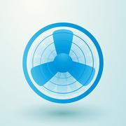 Spinning fan symbol Stock Illustration