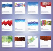 Collection of twelve abstract triangle backgrounds Stock Illustration