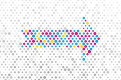 Stock Illustration of color arrow composition of polka dots