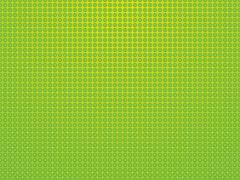 Stock Illustration of green background with polka dots and rings