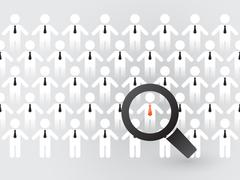 Search for suitable employees Stock Illustration