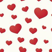 Seamless background with hearts motif Stock Illustration