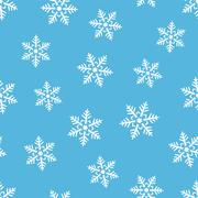 Stock Illustration of abstract winter seamless background with snowflakes motive