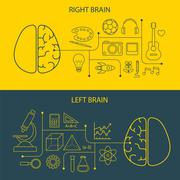 Left and right brain functions concept Piirros