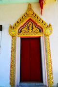 Kho samui bangkok in thailand incision of   gold  temple Stock Photos