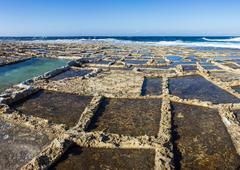 Island of Gozo, salt marshes Stock Photos