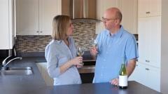Mature Couple Wine Tasting - stock footage