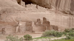 Arizona Canyon De Chelly White House, cliff dwellings, rock - stock footage