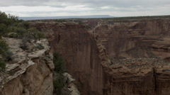 Stock Video Footage of Canyon De Chelly National Monument, overlook pan