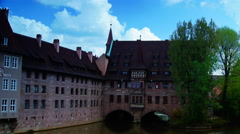 Monastery Holy Spirit Hospice, Nuremberg, Germany, Europe. Stock Footage