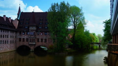Monastery Holy Spirit Hospice, Nuremberg, Germany, Europe. Stock Footage