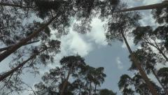 Clouds float across the sky Stock Footage
