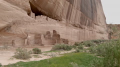 Stock Video Footage of Canyon De Chelly White House Arizona, Cliff Dwelling