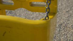 Swings slow motion 1920X1080 FullHD footage - Park swings in 1080p HD video - stock footage