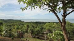 Southern Coastline of the Babeldaob on Palau Stock Footage