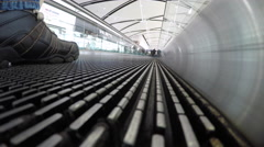 Airport Moving Sidewalk Low Angle Stock Footage