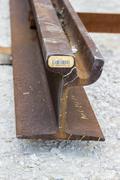 Rail profile-cross section - stock photo