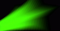 Abstract background shimmering green star Stock Footage