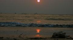 4K Shot of Sunset on the beach in Goa 02 Stock Footage