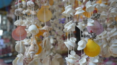 Sea shell mobile hand craft Stock Footage