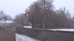 ramparts of the fortress of Yuryev-Polsky - stock footage