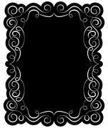 Vector black frame with elegant border Stock Illustration