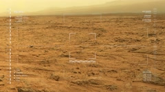 Simulated Mars surface rover camera footage – forward travel Arkistovideo