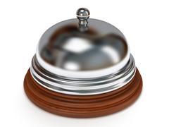 Hotel reception bell. 3d render. - stock illustration