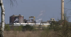 Industry plant Nyrstar Netherlands Stock Footage